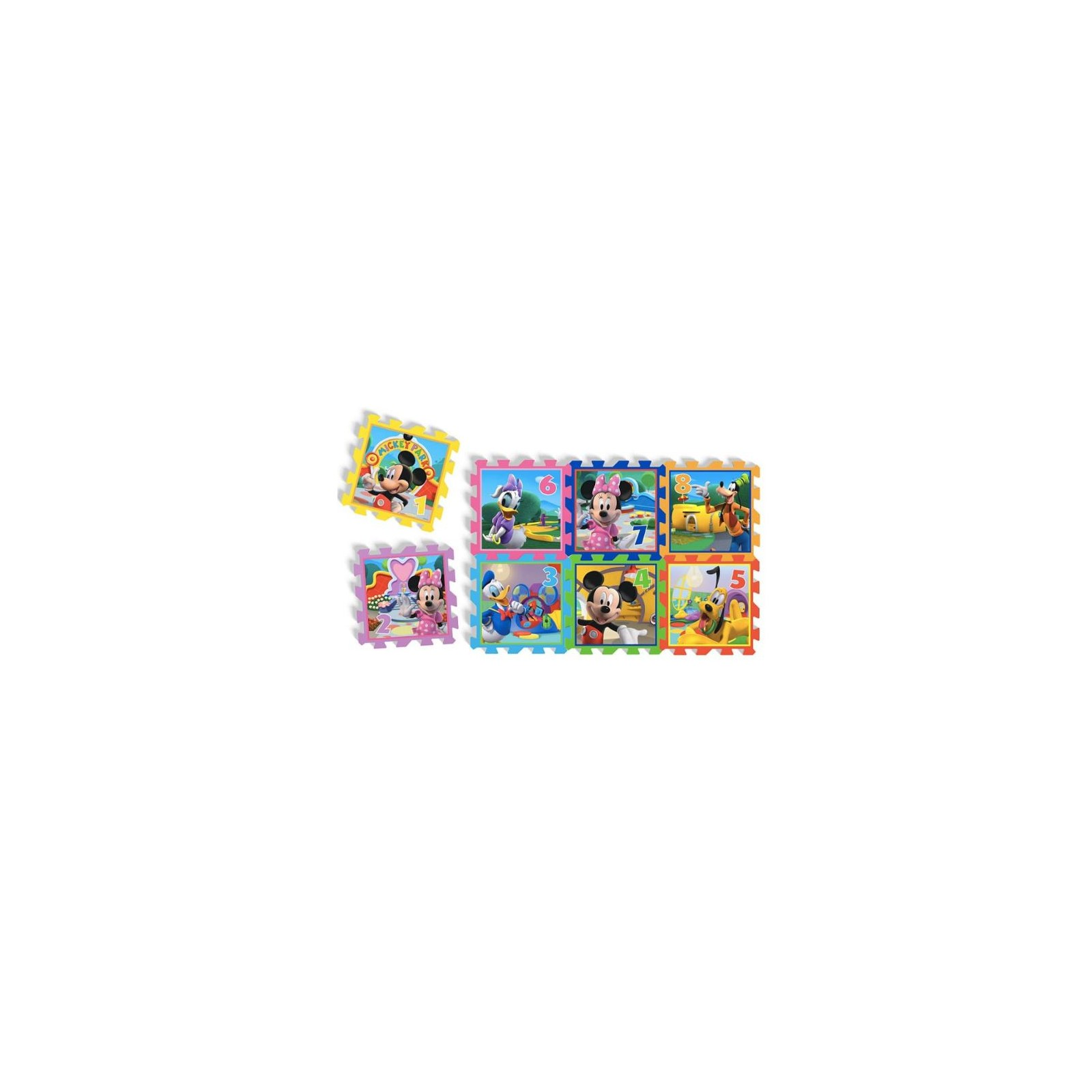 Tapis de jeu puzzle 8 pieces en mousse minnie - Tapis de puzzle 6000 pieces ...