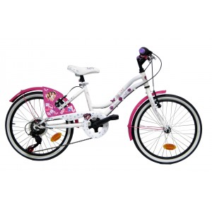 Vélo Violetta 20 pouces 5 vitesses fille garde-boue carter de protection roue