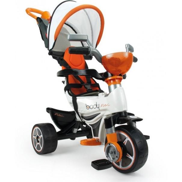 tricycle Body Max évolutif avec capote, panier avant, sac à dos
