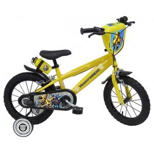 Vélo 14 pouces Transformers avec roulettes et gourde
