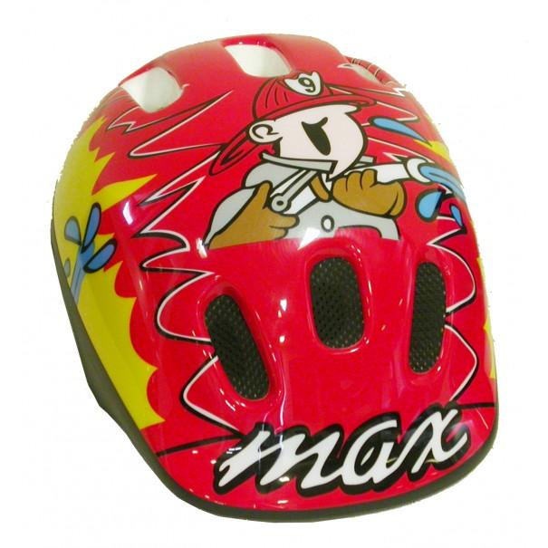 Casque de vélo rouge garçon Max
