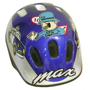 Casque de vélo Policier bleu garçon
