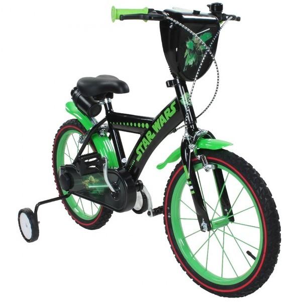 Vélo Star Wars YODA 16 pouces avec gourde et écusson