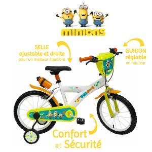 Vélo Minions 16 pouces avec gourde