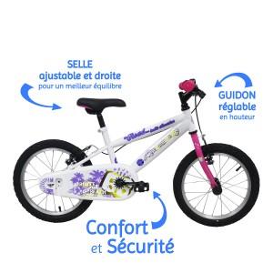 Vélo ROUTE 66 fille 16 pouces