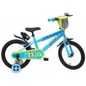 Vélo Toy story 4 16 pouces avec écusson, gourde et roulettes amovibles