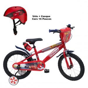 Vélo Cars 16 pouces + Casque 6 à 10 ans | Vélo Fabriqué en Italie | Enfant de 5 ans, 6 ans ou 7 ans, 105 à 120 cm