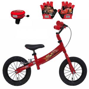 Draisienne CARS 12 pouces + Sonnette + gants | Vélo Fabriqué en Italie | Enfant de 2 ans, 3 ans ou 4 ans, 85 à 100 cm