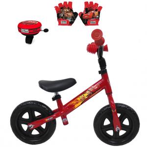 Draisienne Cars 10 Pouces + Sonnette + gants | Vélo Fabriqué en Italie | Enfant de 1 an, 2 ans ou 3 ans, 75 à 95 cm
