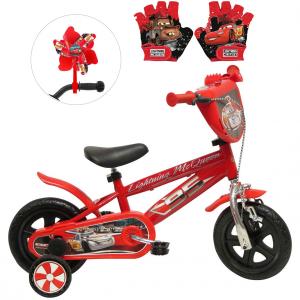Vélo Cars 10 pouces + Moulin à vent + gants | Vélo Fabriqué en Italie | Enfant de 1 an, 2 ans ou 3 ans, 75 à 95 cm