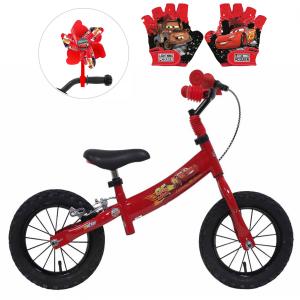 Draisienne Cars 12 pouces + Moulin à vent + gants | Vélo Fabriqué en Italie | Enfant de 2 ans, 3 ans ou 4 ans, 85 à 100 cm