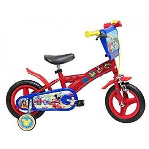 """Vélo enfant garçon Mickey - 10 pouces (1/3 ans) - Coloris Rouge - (""""Distributeur Officiel"""")"""