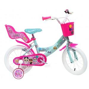 """Vélo enfant fille LOL - 14 pouces (3/5 ans) - Coloris Rose - (""""Distributeur Officiel"""")"""