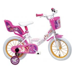 """Vélo enfant fille Mia et Moi - 16 pouces (5/7 ans) - Coloris Rose/Blanc - (""""Distributeur Officiel"""")"""