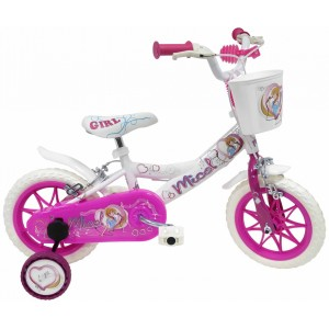 """Vélo enfant fille Micol - 12 pouces (2/4 ans) - Coloris Rose/Blanc - (""""Distributeur Officiel"""")"""