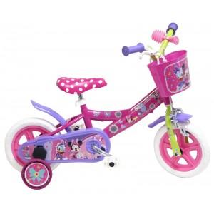 """Vélo enfant fille Minnie - 10 pouces (1/3 ans) - Coloris rose - (""""Distributeur Officiel"""")"""