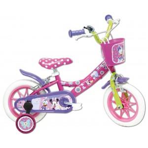 """Vélo enfant fille Minnie - 12 pouces (2/4 ans) - Coloris rose - (""""Distributeur Officiel"""")"""