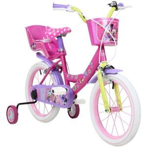 """Vélo enfant fille Minnie - 16 pouces (5/7 ans) - Coloris rose - (""""Distributeur Officiel"""")"""