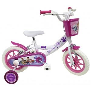 """Vélo enfant fille Pat Patrouille Skye Everest - 12 pouces (2/4 ans) - Coloris Blanc/Violet - (""""Distributeur Officiel"""")"""