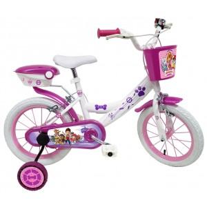"""Vélo enfant fille Pat Patrouille Skye Everest - 16 pouces (5/7 ans) - Coloris Blanc/Violet - (""""Distributeur Officiel"""")"""
