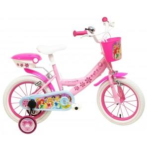 """Vélo enfant fille Princesses - 14 pouces (3/5 ans) - Coloris Rose - (""""Distributeur Officiel"""")"""