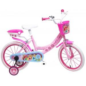 """Vélo enfant fille Princesses - 16 pouces (5/7 ans) - Coloris Rose - (""""Distributeur Officiel"""")"""