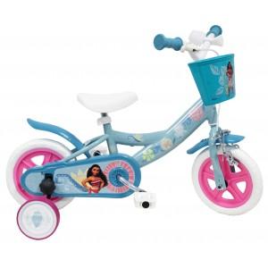 """Vélo enfant fille Vaiana - 10 pouces (1/3 ans) - Coloris Bleu - (""""Distributeur Officiel"""")"""