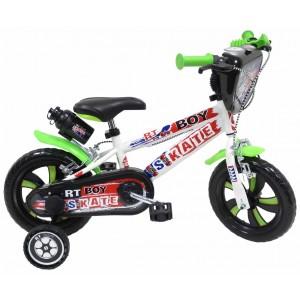 """Vélo enfant garçon RT Boy Skate - 12 pouces (2/4 ans) - Coloris Noir/Vert - (""""Distributeur Officiel"""")"""