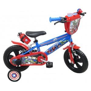 """Vélo enfant mixte Avengers - 12 pouces (2/4 ans) - Coloris Rouge/Bleu - (""""Distributeur Officiel"""")"""