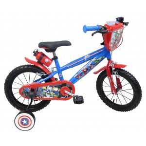 """Vélo enfant garçon Avengers - 14 pouces (3/5 ans) - Coloris Rouge/Bleu - (""""Distributeur Officiel"""")"""