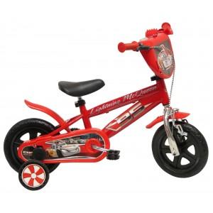 """Vélo enfant garçon Cars Flash McQueen - 10 pouces (1/3 ans) - Coloris Rouge - (""""Distributeur Officiel"""")"""