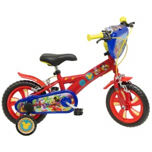 """Vélo enfant garçon Mickey - 12 pouces (2/4 ans) - Coloris Rouge - (""""Distributeur Officiel"""")"""