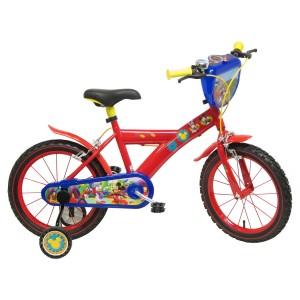 """Vélo enfant garçon Mickey - 16 pouces (5/7 ans) - Coloris Rouge - (""""Distributeur Officiel"""")"""