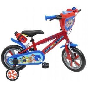 """Vélo enfant garçon Pat Patrouille Skye Everest - 12 pouces (2/4 ans) - Coloris Rouge/Bleu - (""""Distributeur Officiel"""")"""