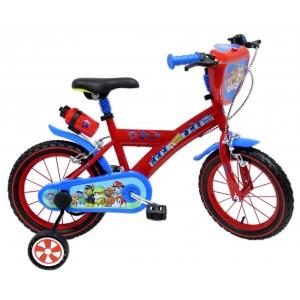 """Vélo enfant garçon Pat Patrouille Skye Everest - 14 pouces (3/5 ans) - Coloris Rouge/Bleu - (""""Distributeur Officiel"""")"""