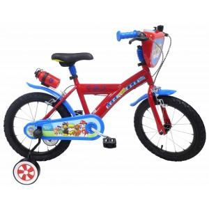 """Vélo enfant garçon Pat Patrouille Skye Everest - 16 pouces (5/7 ans) - Coloris Rouge/Bleu - (""""Distributeur Officiel"""")"""