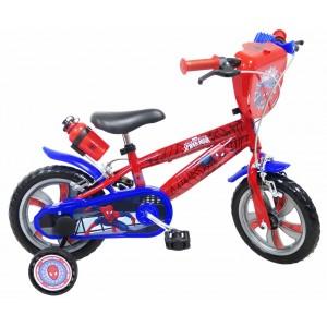 """Vélo enfant garçon Spiderman - 12 pouces (2/4 ans) - Coloris Rouge/Bleu - (""""Distributeur Officiel"""")"""