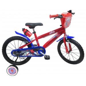 """Vélo enfant garçon Spiderman - 16 pouces (5/7 ans) - Coloris Rouge/Bleu - (""""Distributeur Officiel"""")"""