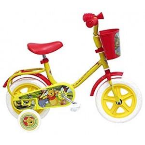 """Vélo enfant garçon Winnie L'Ourson - 10 pouces (1/3 ans) - Coloris Jaune - (""""Distributeur Officie"""")"""