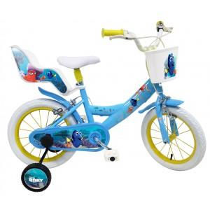 """Vélo enfant fille Le monde de Dory - 14 pouces (3/5 ans) - Coloris Bleu - (""""Distributeur Officiel"""")"""