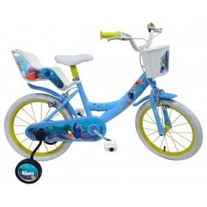 """Vélo enfant fille Le monde de Dory - 16 pouces (5/7 ans) - Coloris Bleu - (""""Distributeur Officiel"""")"""
