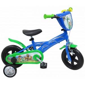 """Vélo enfant garçon Le voyage d'Arlo - 10 pouces (1/3 ans) - Coloris Bleu/Vert - (""""Distributeur Officiel"""")"""