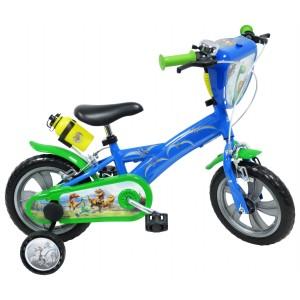 """Vélo enfant garçon Le voyage d'Arlo - 12 pouces (2/4 ans) - Coloris Bleu/Vert - (""""Distributeur Officiel"""")"""