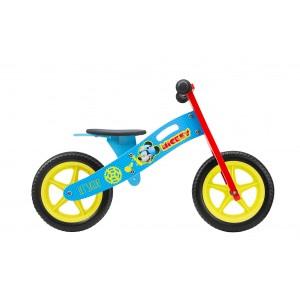 Draisienne en bois garçon Mickey - 12 pouces (2/4 ans) - Coloris bleu et rouge - (Distributeur Officiel)