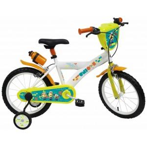 """Vélo enfant garçon Les Minions - 12 pouces (2/4 ans) - Coloris Jaune/Banc - (""""Distributeur Officiel"""")"""