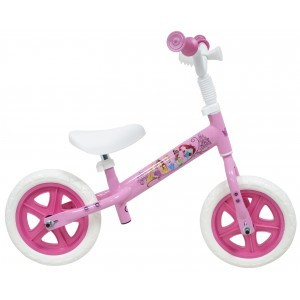Draisienne fille Princesses sans frein - 10 pouces (1/3 ans) - Coloris rose - (Distributeur Officiel)