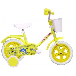 """Vélo 10 pouces Dany le Dauphin roulettes et panier - (""""Distributeur Officiel"""")"""