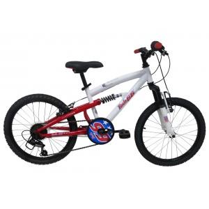 Vélo VTT garçon 20 pouces Route 66 (7/9 ans environ) - Coloris Blanc et Rouge