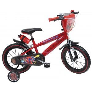 """Vélo enfant garçon BIG HERO 6 - 16 pouces (5/7 ans) - Coloris Rouge - (""""Distributeur Officiel"""")"""