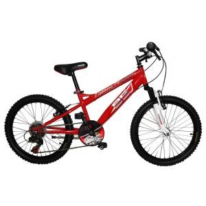 """Vélo VTT garçon CARS 20 pouces (7/9 ans) - Coloris Rouge - (""""Distribution Officiel"""")"""